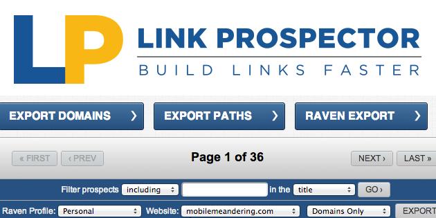 Link Prospector