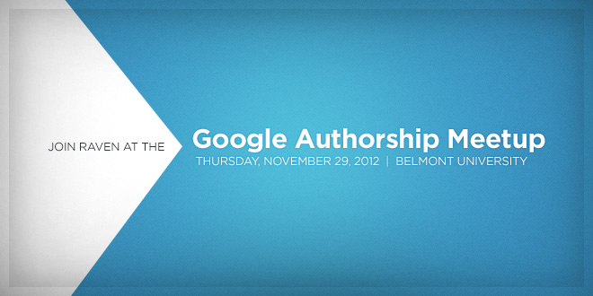 Join us at the Authorship Meetup