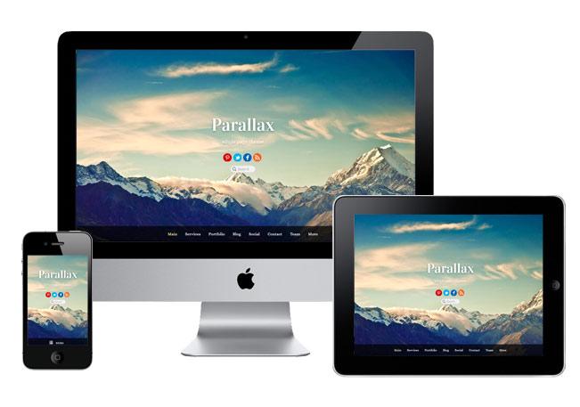 parallax responsive design