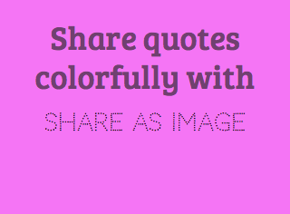 Share quotes colorfully with Share As Image