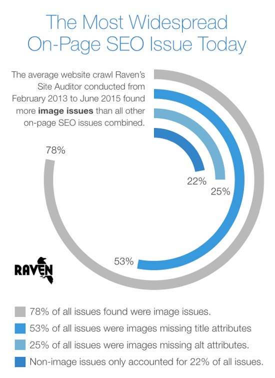 Images Most Common On-Page SEO Issue Chart 550